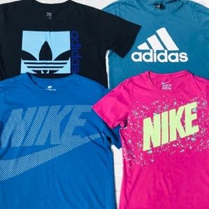 4 Nike & Adidas Women's Athletic Tops Bundle